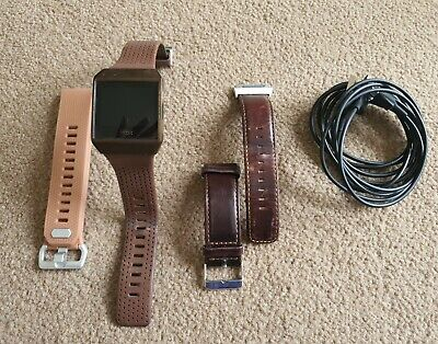 AU138.36 • Buy Fitbit Ionic Fitness Watch With 2 Chargers 3 Bands & Bumper