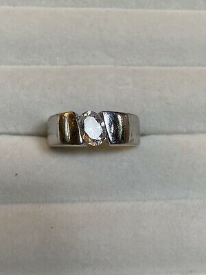 $ CDN28.94 • Buy QVC Diamonique Wide Band Solitaire Ring Size 8.5