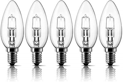 £13.03 • Buy E14 42W Halogen Candle Light Bulbs, Small Edison Screw Bulb SES Dimmable Pack Of