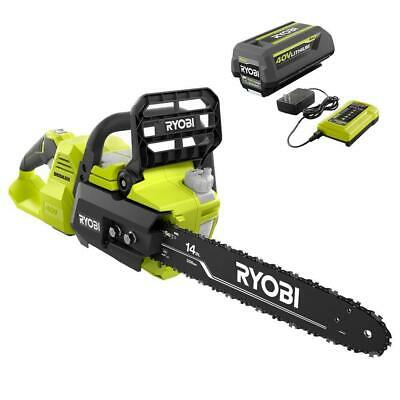 View Details 14 In. 40-Volt Brushless Lithium-Ion Cordless Chainsaw, 4 Ah Battery And Charger • 131.90£