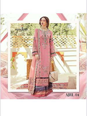 £27.99 • Buy Stitched ASIM JOFA Inspired Embroidered  Ladies 3 Piece Lawn Suit 2021 Designs