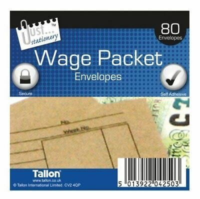£3.99 • Buy Tallon Just Stationery 100x110mm Wage Packet (Pack Of 80)