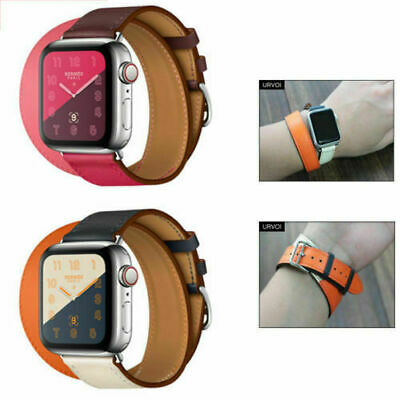 AU14.99 • Buy Leather Strap For Apple Watch Series 5 4 3 2 1 With Classic Buckle Wrist Band