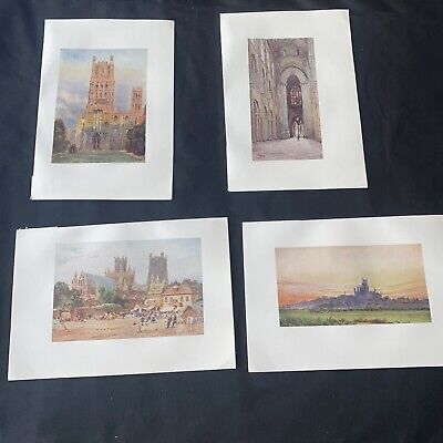 £5 • Buy 1905 4 X Ely Cathedral Collins Cathedral Cities Original Antique Print