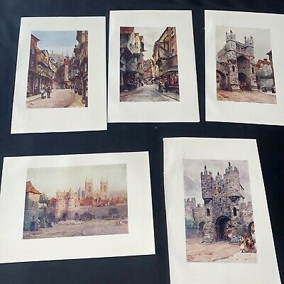 £5 • Buy 1905 5 X York Cathedral Collins Cathedral Cities Original Antique Print