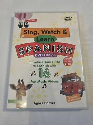 £4.95 • Buy Sing, Watch And Learn Spanish (Book & DVD)