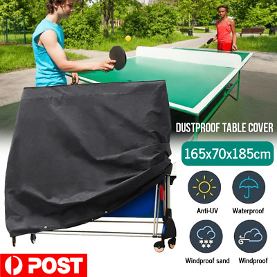 AU35.99 • Buy Black Full Size Table Tennis Ping Pong Table Cover Indoor/Outdoor Waterproof New