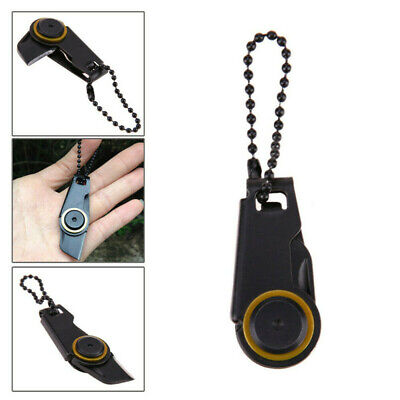£3.86 • Buy Key Ring Mini Zipper Knife Portable Tool Fordable Stainless Steel Edc Outdoor