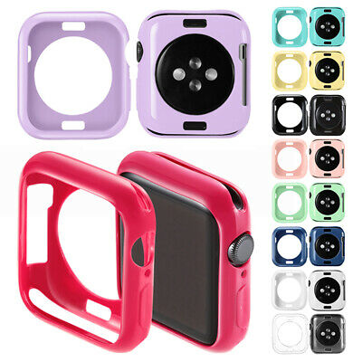AU7.59 • Buy For Apple Watch Series 6 5 4 3 2 1 Silicone Bumper Protective Case 38/42/40/44mm