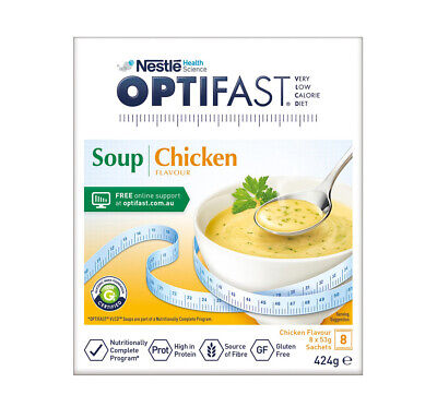 £21.84 • Buy Optifast VLCD Low Calorie Diet Weight Loss Chicken Flavour Soup Sachet 8x53g