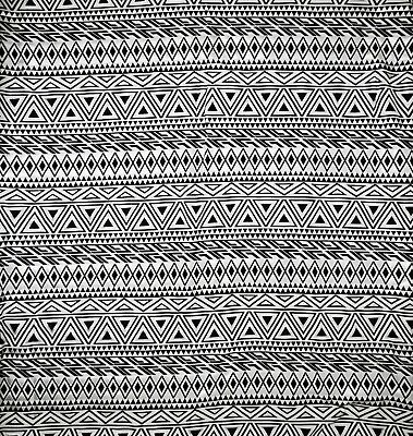 £4.50 • Buy Cotton Jersey Black & White Aztec Print - Sold By The Metre