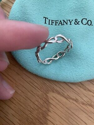 £150 • Buy Gorgeous Tiffany And Co Infinity Sterling Silver Ring With Box And Pouch Size M