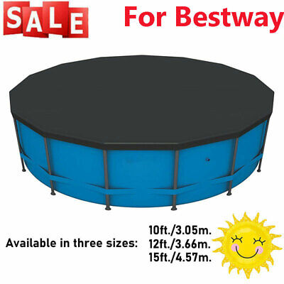 £16.99 • Buy Swimming Pool Cover For Bestway Flowclear Steel Pro Max Round Pools 10/12ft