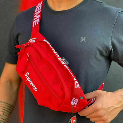 $ CDN34.09 • Buy 4Color Red Fanny Pack Supreme Crossbody Shoulder SS18 Bag Free Shipping Same Day