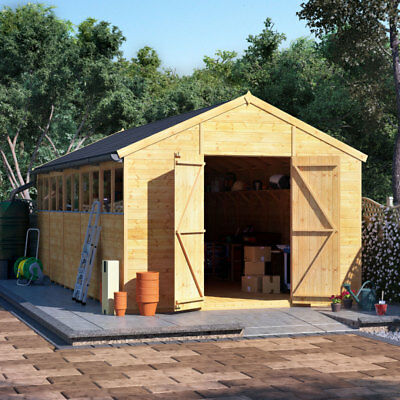 £2485 • Buy BillyOh Expert Apex Wooden Workshop Garden Shed Sizes 12x10 Up To 20x10