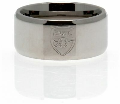 £17.99 • Buy Stainless Steel Arsenal Ring - Size R