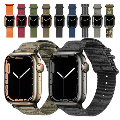 $10.99 • Buy Nylon Watch Band IWatch Strap For Apple Watch SE 6 5 4 3 2 44mm 42mm 40mm 38mm