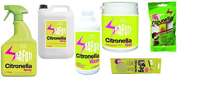 £12.65 • Buy NAF Off Citronella For Horses Insect Midge Fly Repellent Spray Refill Gel Wash