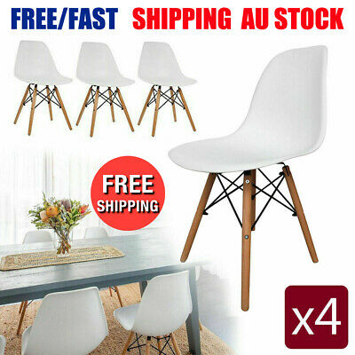 AU75.23 • Buy 2/4 X Modern Dining Chairs Home Office Cafe Seat Rest Lounge Kitchen Living Room