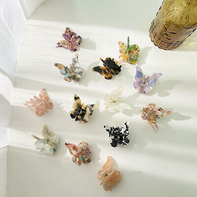 £2.49 • Buy Women Butterfly Mini Hair Claw Small Acetate Hair Clamps Clips Girls Accessories