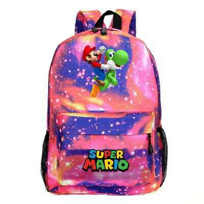 £11.98 • Buy Super Mario Kids Backpack, School Bag For Boys And Teenager, Super Mario RED