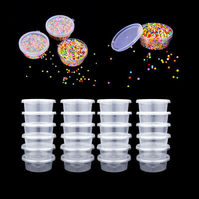 AU10.39 • Buy 12/25Pc Slime Storage Containers Foam Ball Storage Cups Containers With Lids P
