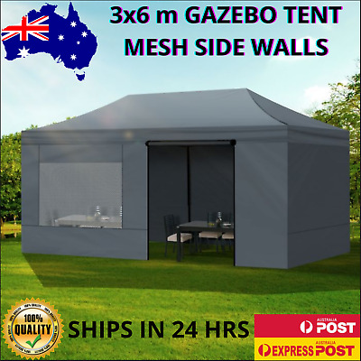 AU267.91 • Buy Mountview Gazebo Tent 3x6 Outdoor Marquee Gazebos Camping Canopy Mesh Side Wall