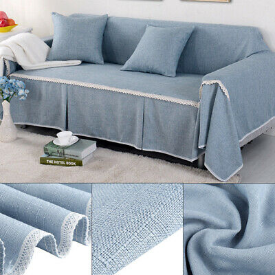 £8.12 • Buy 3 Seater Sofa Covers Elastic Stretch Settee Slipcover Mat Soft Protector Couch