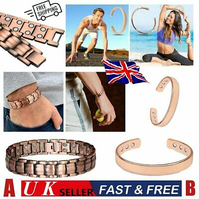 £3.30 • Buy Pure Copper Bracelet Magnetic Healing Bio Therapy Arthritis Pain Relief Bangle
