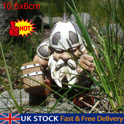 £8.19 • Buy For Viking Victor Norse Dwarf Gnome Statue Garden Yard Resin Ornaments UK