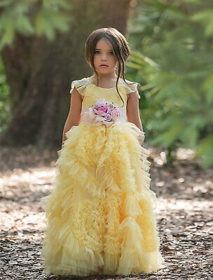 £251.63 • Buy NEW Dollcake Best Wishes Yellow Frock Dress W Sash Pagent Party Special Sz 7