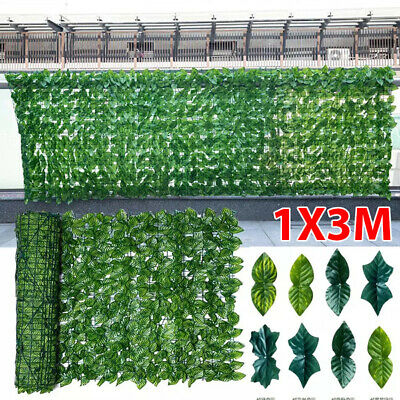 £20.99 • Buy 1m X 3m Artificial Screening Ivy Leaf Hedge Panels On Roll Privacy Garden Fence