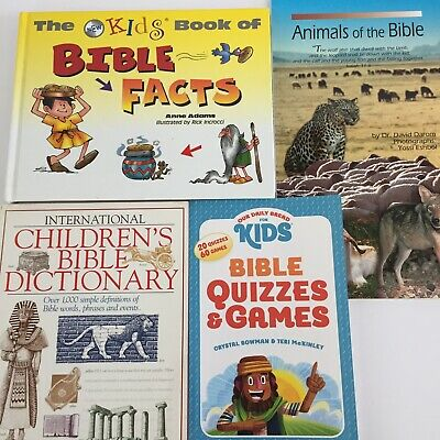 £7.08 • Buy Children's Bible Reference Books Lot Of 4 Bible Dictionary Bible Animals & More