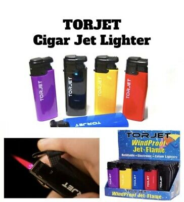 £3.75 • Buy 4 X TORJET CIGAR WINDPROOF TURBO JET FLAME ELECTRONIC LIGHTER (Refillable)