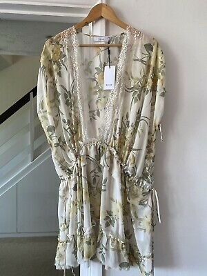 £49.99 • Buy REISS Sheer Floral Lace Kaftan Cover Up Size S 8 10 12 Beach Holiday