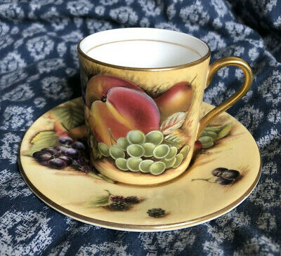 £19.99 • Buy Aynsley China Orchard Gold Fruit Small Coffee Cup And Saucer