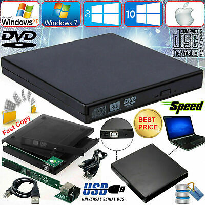 £6.44 • Buy USB 2.0 To IDE External CD/DVD Combo RW ROM Drive Enclosure Caddy Case Cover