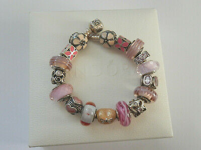 AU28 • Buy Choice Of GENUINE PANDORA S/Silver & SHADES OF PINK Charms. MOST RETIRED
