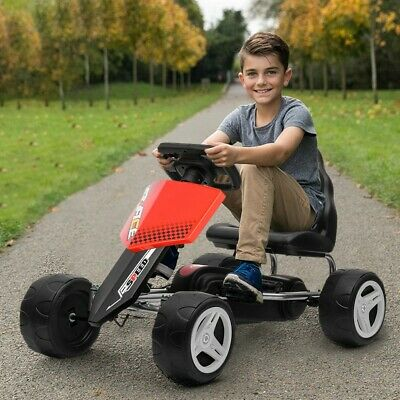 £78.39 • Buy Go Kart Kids Childrens Pedal Ride On Car Racing Toy Rubber Tyres Wheels 4-8 Year