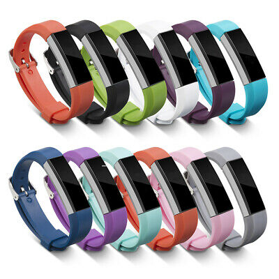 AU2.93 • Buy Silicone Replacement Wristband Metal Buckle Watch Band Straps For Fitbit Alta/HR