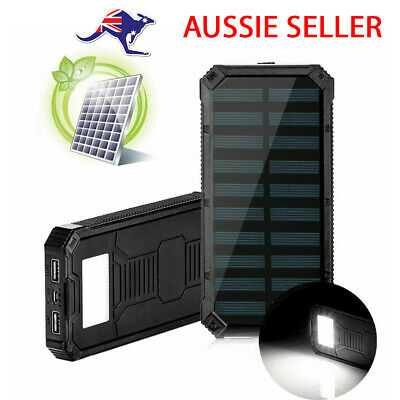 AU25.99 • Buy Solar Power Bank Portable Charger Dual USB 2.4A Fast Charge Waterproof