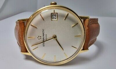 £825 • Buy Eterna Matic 3000 Automatic 18k Solid Gold Men's Watch