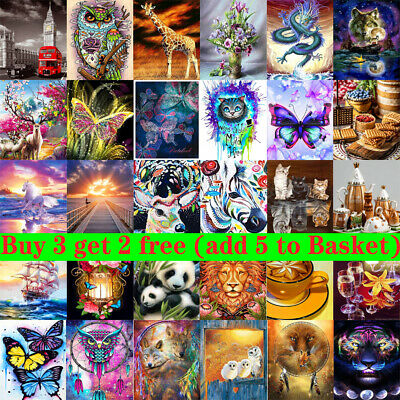 £5.99 • Buy 5D Full Diamond Painting Embroidery Cross Craft Stitch Arts Kit Mural Home Decor