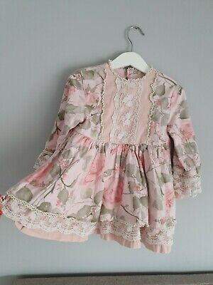£12 • Buy Girl Age 3  2/3 Floral Vintage Retro Spanish Romary Style Dress