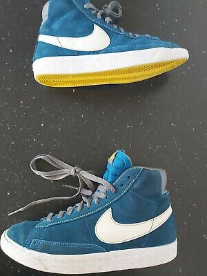 £14.99 • Buy Nike Blazers Womens Blue/White Suede Trainers Size 4 .  EXCELLENT CONDITION