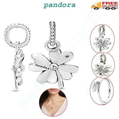 £16.29 • Buy Pandora Leaf Clover Genuine Charm Four Pendant Crystal With Pouch, Best Gift UK