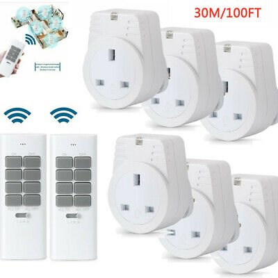 £17.95 • Buy Lots 3 WAY WIRELESS REMOTE CONTROL UK PLUG IN SOCKETS MAINS ENERGY SAVING Switch