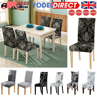 £3.99 • Buy Stretch Dining Chair Covers Spandex Seat Cover Slipcovers Wedding Room Banquet