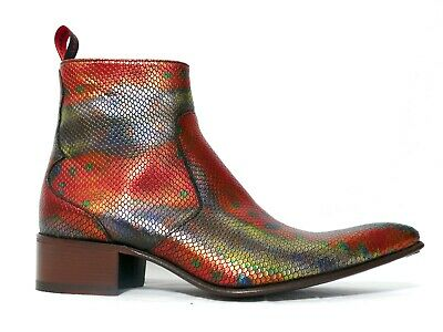 £245 • Buy Jeffery-West ROCHESTER Coral 'Party' Fish Devil Zip Boot - RRP £465