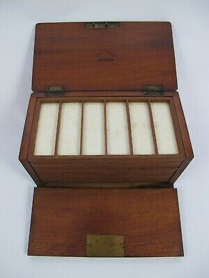 £86 • Buy Mahogany Collectors Cabinet For Microscope Slides By R & J. Beck. London.
